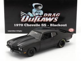 Chevrolet Chevelle SS Blackout Drag Outlaws 1970 mattschwarz 1:18 GMP