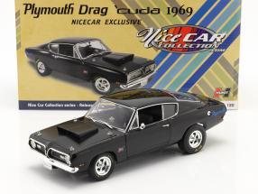 Plymouth Hemi Cuda Drag Car 1969 schwarz 1:18 GMP