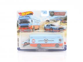 Set Team Transport: Lancia Rally 037 & Euro Hauler Gulf 1:64 HotWheels