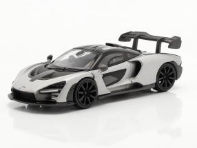 McLaren Senna RHD year 2018 silver 1:64 TrueScale