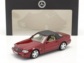 Mercedes-Benz 500 SL (R129) Facelift 1998-2001 bernsteinrot 1:18 Norev