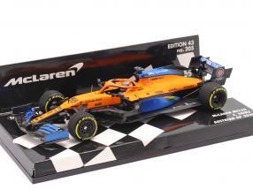 C. Sainz jr. McLaren MCL35 #55 5th Österreich GP Formel 1 2020 1:43 Minichamps