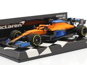 Carlos Sainz jr. McLaren MCL35 #55 Launch Spec Formel 1 2020 1:43 Minichamps