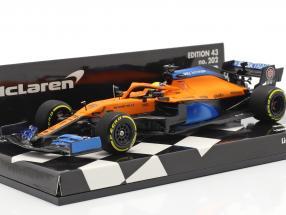Lando Norris McLaren MCL35 #4 Launch Spec Formel 1 2020 1:43 Minichamps