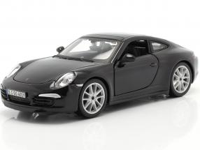 Porsche 911 (991) Carrera S year 2013 black 1:24 Bburago
