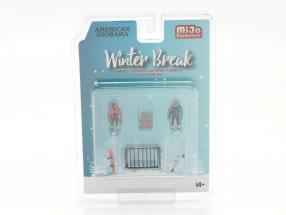 Winter Break Figure set 1:64 American Diorama