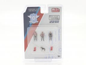 Police figure set with dog 1:64 American Diorama