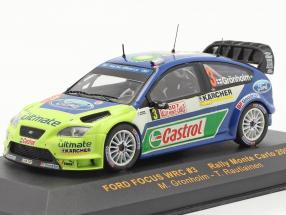 Ford Focus WRC #3 rally Monte Carlo 2007 Gronholm, Rautiainen 1:43 Ixo