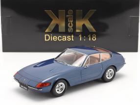 Ferrari 365 GTB/4 Daytona Coupe Series 2 1971 blue metallic 1:18 KK-Scale