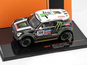 Mini All 4 Racing #300 2nd rally Dakar 2014 Peterhansel, Cottret 1:43 Ixo / 2. choice