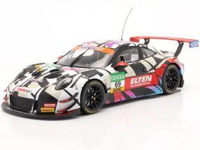 Iron Force Fan-Set: 2x Porsche 911 (991) GT3 R #69 with book 1:18 Ixo