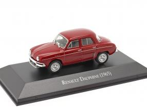 Renault Dauphine year 1965 dark red 1:43 Altaya