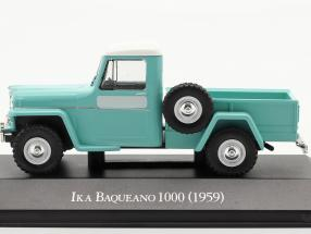Ika Baqueano 1000 Willys Jeep Truck year 1959 turquoise