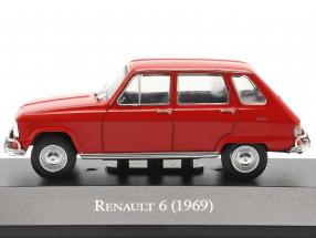 Renault 6 year 1969 red