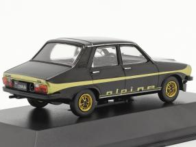 Renault 12 Alpine year 1978 black / gold