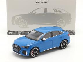 Audi RS Q3 Sportback (F3) year 2019 blue metallic 1:18 Minichamps