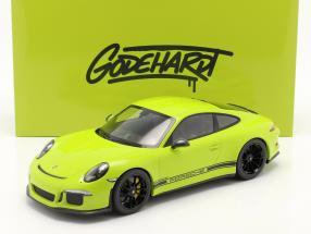 Porsche 911 (991) R Ring Police Godehardt 2016 light green 1:12 Minichamps