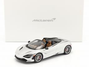 McLaren 720S Spider year 2019 supernova silver with showcase 1:18 TrueScale