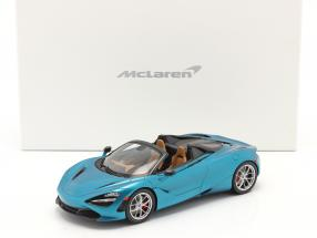 McLaren 720S Spider year 2019 belize blue with showcase 1:18 TrueScale