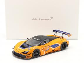 McLaren 720S GT3 2019 #03 orange / blue with showcase 1:18 TrueScale
