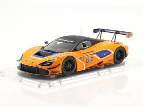 McLaren 720S GT3 2019 #03 orange / blue with showcase 1:18 TrueScale