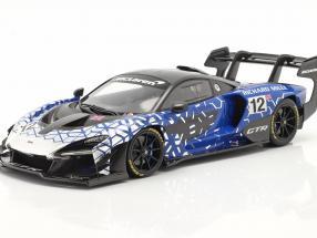 McLaren Senna GTR 2019 #12 blue / chrome / black with showcase 1:18 TrueScale
