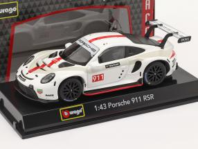 Porsche 911 RSR GT #911 white / red 1:43 Bburago