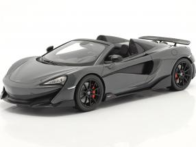 McLaren 600LT Spider year 2019 chicane grey with showcase 1:18 TrueScale