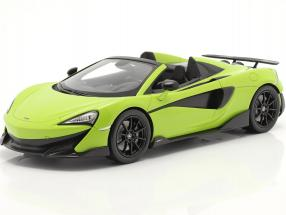 McLaren 600LT Spider year 2019 lime green with showcase 1:18 TrueScale