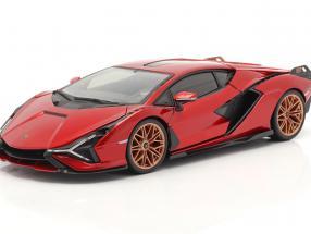 Lamborghini Sian FKP 37 year 2019 red / black 1:18 Bburago