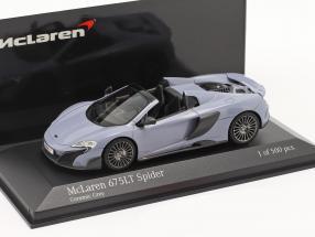 McLaren 675LT Spider year 2016 ceramic grey 1:43 Minichamps