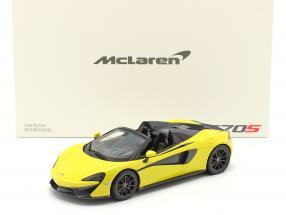McLaren 570S Spider year 2017 sicilian yellow 1:18 Spark