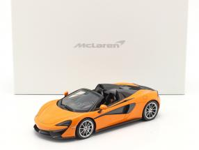 McLaren 570S Spider year 2017 ventura orange with showcase 1:18 TrueScale