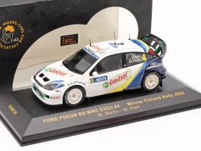 Ford Focus RS WRC EVO3 #4 winner Finland rally 2003 Martin, Park 1:43 Ixo
