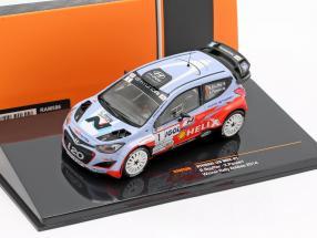 Hyundai i20 WRC #1 Winner rally Antibes 2014 Bouffier, Panseri 1:43 Ixo / 2nd choice