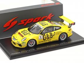 Porsche 911 GT3 Cup #2 Porsche Carrera Cup champion Scandinavia 2018 L. Sundahl 1:43 Spark