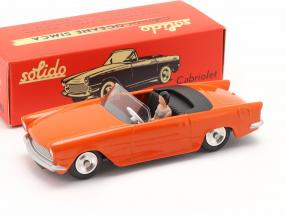 Simca Oceane Convertible year 1958 orange 1:43 Solido
