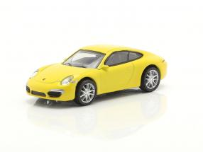 Porsche 911 (991) Carrera S Coupe yellow 1:87 Schuco