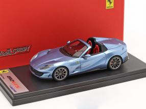 Ferrari 812 GTS Spider year 2019 california light blue metallic 1:43 LookSmart