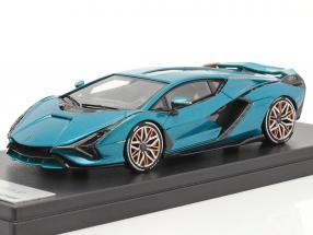 Lamborghini Sian FKP 37 Hybrid year 2020 uranus blue metallic 1:43 LookSmart