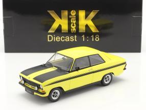 Opel Kadett B Sport year 1973 yellow / black 1:18 KK-Scale