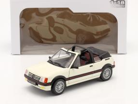 Peugeot 205 CTI MK1 Convertible  year 1989 white 1:18 Solido