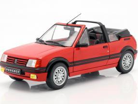 Peugeot 205 CTI MK1 Convertible year 1989 red