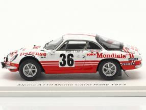 Alpine-Renault A110 1800 #36 Rallye Monte Carlo 1973 Wollek, Thimonier