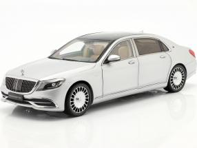 Mercedes-Benz Maybach S-class year 2019 iridium silver 1:18 Almost Real