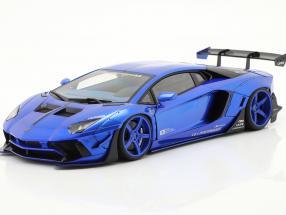 Lamborghini Aventador Liberty Walk LB-Works 2018 hyper blue 1:18 AUTOart