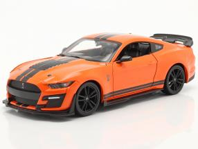 Ford Mustang Shelby GT 500 year 2020 orange / black 1:24 Maisto