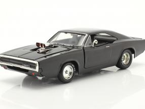 Dom's Dodge Charger 1970 Fast & Furious 7 (2015) black 1:24 Jada Toys