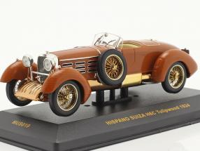 Hispano Suiza H6C Tulipwood Construction year 1924 brown 1:43 Ixo