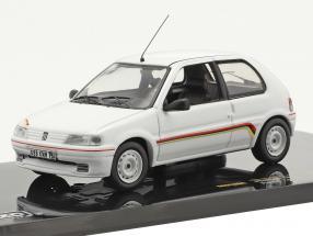 Peugeot 106 Rallye year 1994 white 1:43 Ixo